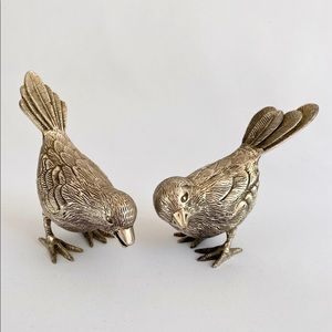 Vtg Silver Plated Birds of a Feather